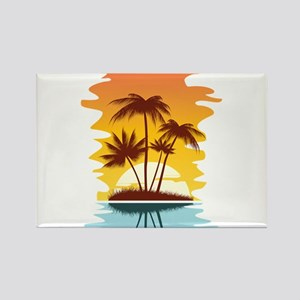 Tropical Sunset Magnets