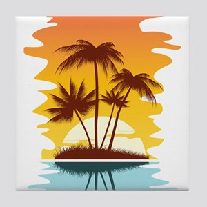 Tropical Sunset Tile Coaster