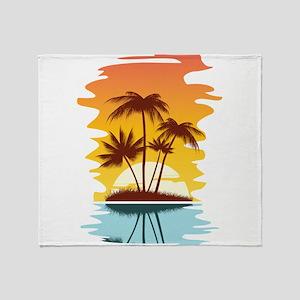 Tropical Sunset Throw Blanket