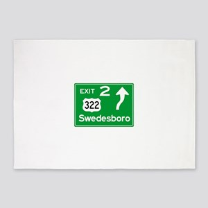 NJTP Logo-free Exit 2 Swedesboro 5'x7'Area Rug