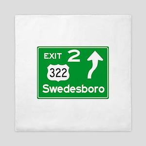 NJTP Logo-free Exit 2 Swedesboro Queen Duvet