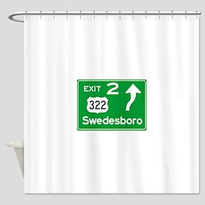 NJTP Logo-free Exit 2 Swedesboro Shower Curtain