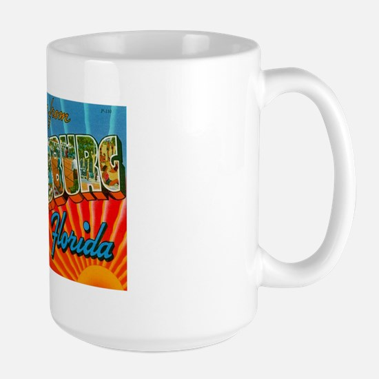 St. Petersburg Postcard Large Mug