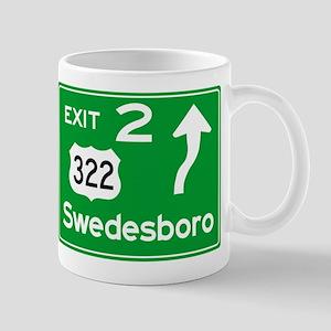 NJTP Logo-free Exit 2 Swedesbor Mugs