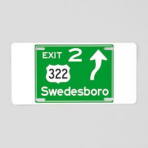 NJTP Logo-free Exit 2 Swede Aluminum License Plate