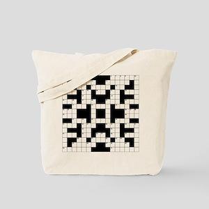 Crossword Pattern Decorative Tote Bag