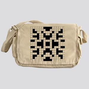 Crossword Pattern Decorative Messenger Bag