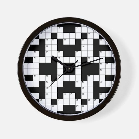 Crossword Pattern Decorative Wall Clock