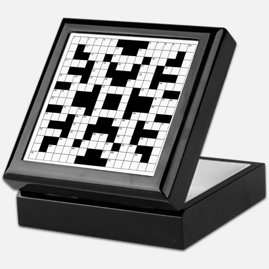 Crossword Pattern Decorative Keepsake Box