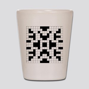 Crossword Pattern Decorative Shot Glass