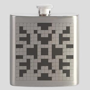 Crossword Pattern Decorative Flask
