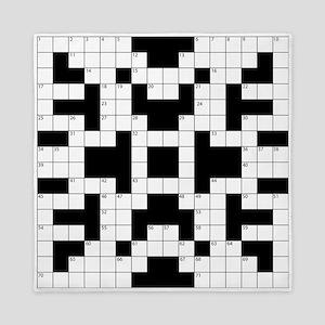 Crossword Pattern Decorative Queen Duvet