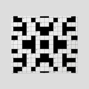 Crossword Pattern Decorative Throw Blanket