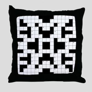 Crossword Pattern Decorative Throw Pillow