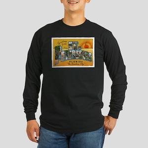 St. Petersburg Postcard Long Sleeve Dark T-Shirt