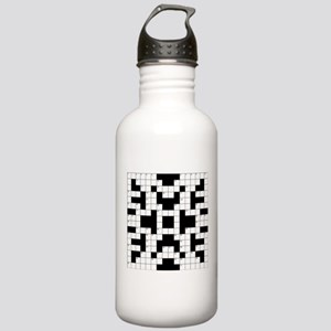 Crossword Pattern Deco Stainless Water Bottle 1.0L