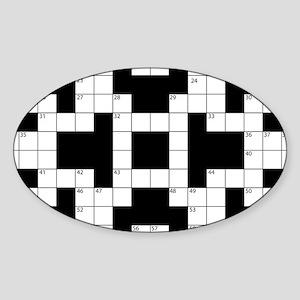 Crossword Pattern Decorative Sticker