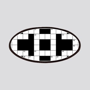 Crossword Pattern Decorative Patch
