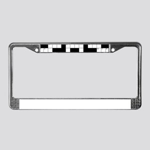 Crossword Pattern Decorative License Plate Frame