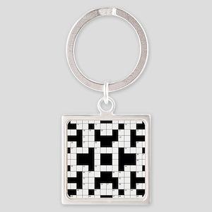 Crossword Pattern Decorative Keychains