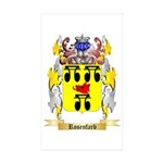 Rosenfarb Sticker (Rectangle 50 pk)