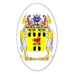 Rosenfarb Sticker (Oval 50 pk)