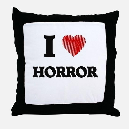 I love Horror Throw Pillow