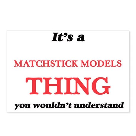 It's a Matchstick Mod Postcards (Package of 8)