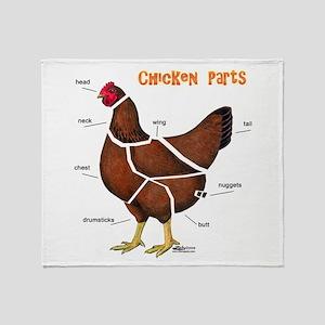 Chicken Parts Throw Blanket