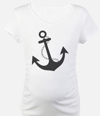 Nautical Anchor Trendy Summer De Shirt