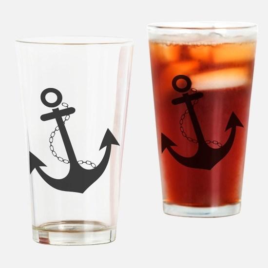 Nautical Anchor Trendy Summer Desig Drinking Glass