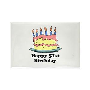 Happy 51st Birthday Magnets