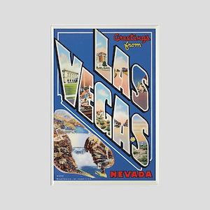 Las Vegas Postcard Rectangle Magnet