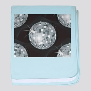 silver disco ball baby blanket