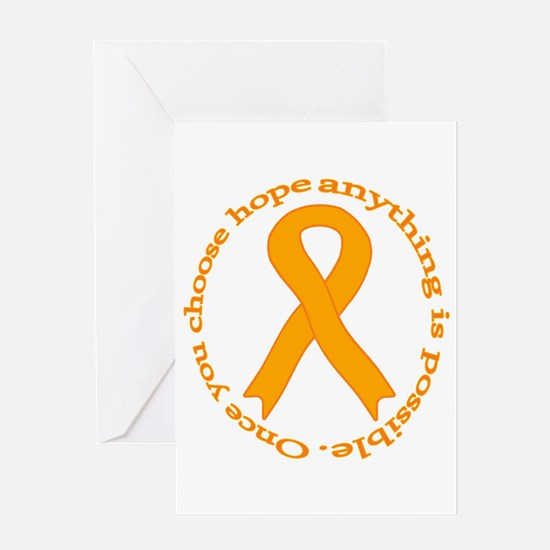 Orange Hope Greeting Card