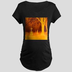 Halloween Grave Maternity Dark T-Shirt