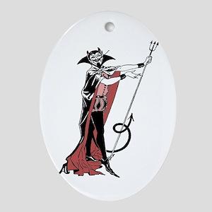 Retro Devil Oval Ornament