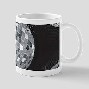 silver disco ball Mugs