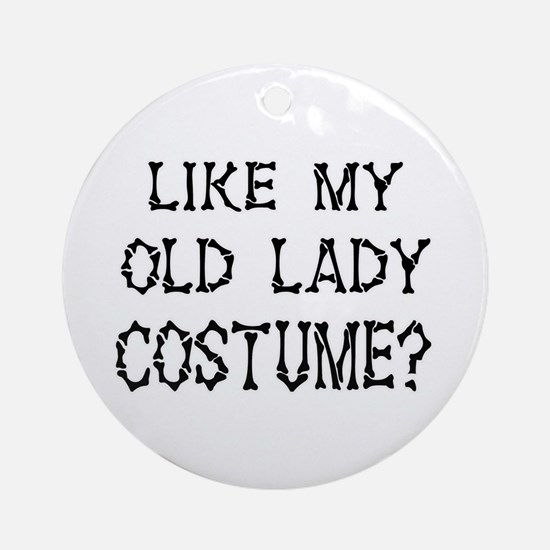 Old Lady Costume Ornament (Round)
