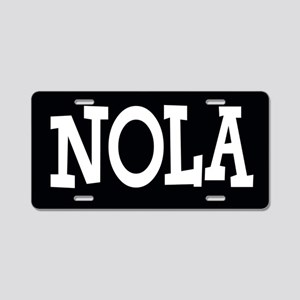 NOLA BLACK AND WHITE Aluminum License Plate