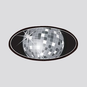 silver disco ball Patch
