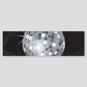 silver disco ball Bumper Sticker