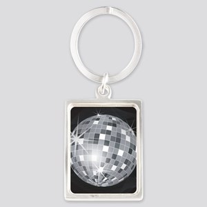 silver disco ball Keychains