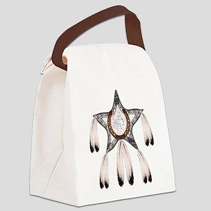 horse shoe star dreamcatcher Canvas Lunch Bag