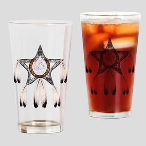 horse shoe star dreamcatcher Drinking Glass