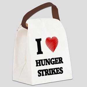 I love Hunger Strikes Canvas Lunch Bag
