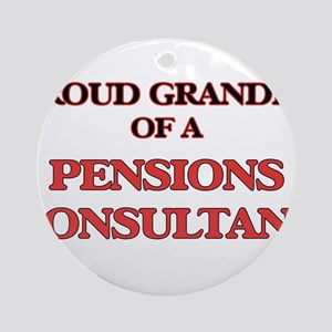 Proud Grandpa of a Pensions Consult Round Ornament