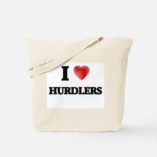 I love Hurdlers Tote Bag