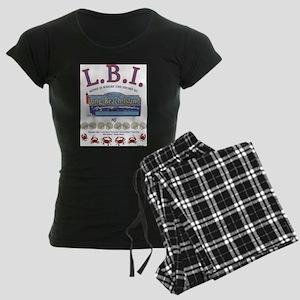 LONG BEACH ISLAND NEW JERSEY Women's Dark Pajamas