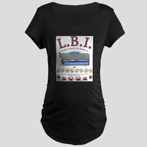 LONG BEACH ISLAND NEW JERSEY Maternity T-Shirt